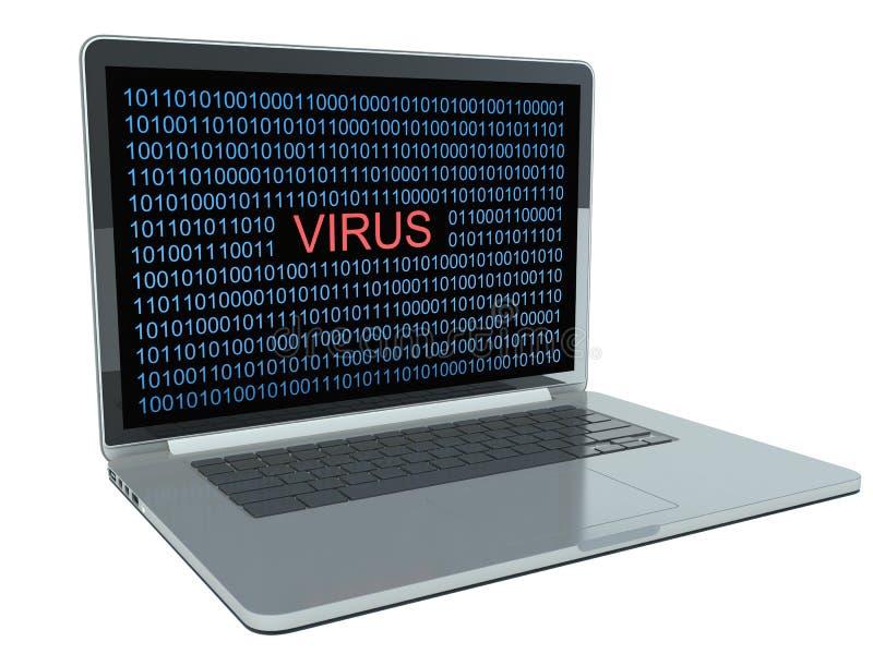 在计算机上的病毒 皇族释放例证