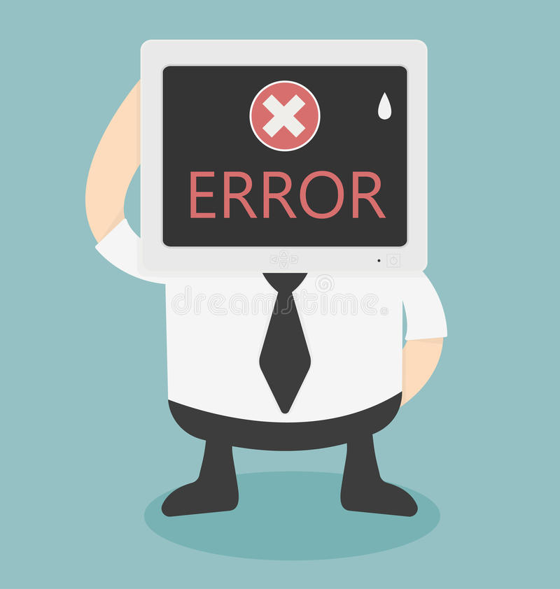 在计算机上的错误信息 向量例证
