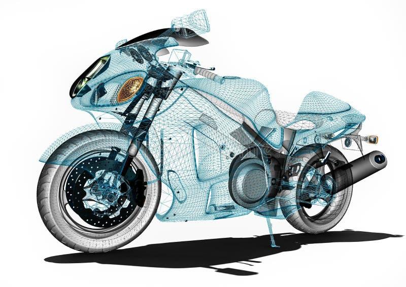 在计算机软件的摩托车发展 皇族释放例证