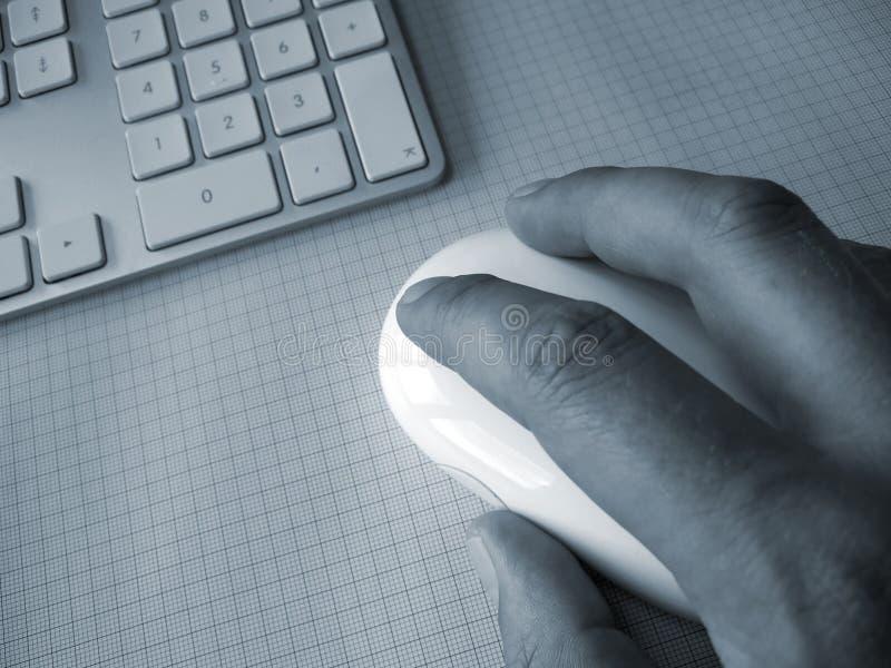 在计算机鼠标的现有量 库存图片