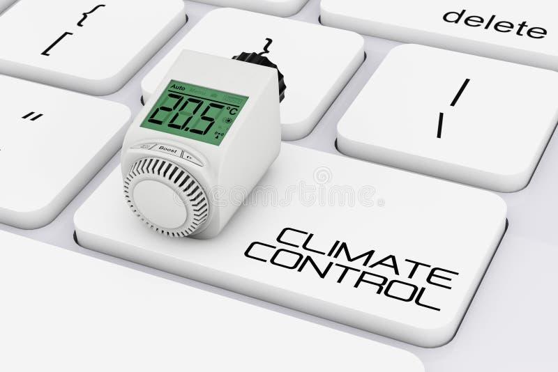 在计算机Keybo的数字式无线幅射器恒温阀 向量例证