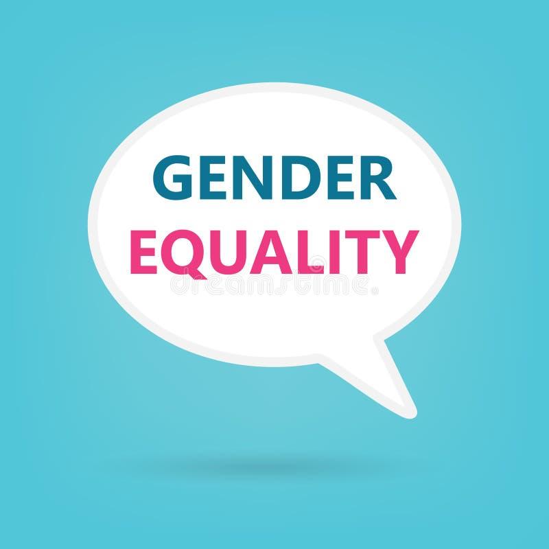 在讲话泡影写的男女平等 库存例证