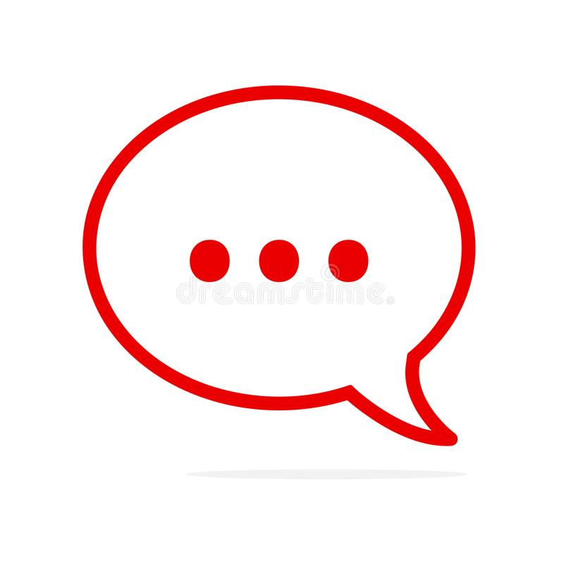 在讲话泡影的支持标志!传染媒介平的象设计 网上通信和网络 库存例证
