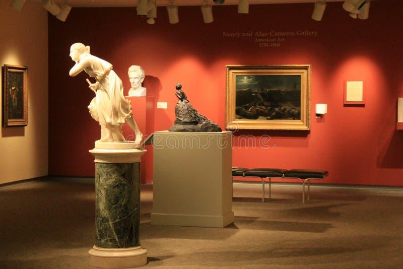 在许多房间之一,纪念美术画廊,罗切斯特,纽约里面的惊人展览, 2017年 库存图片