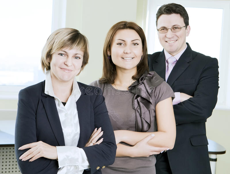 在论述的企业小组 库存图片