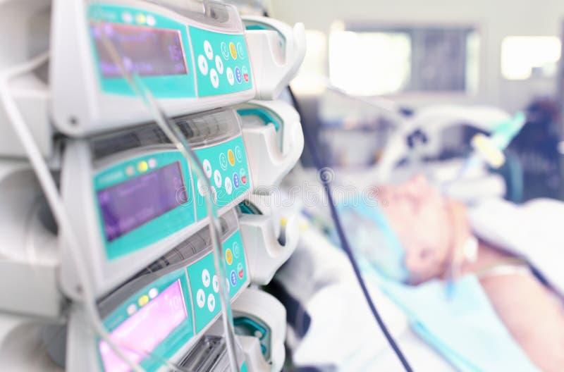 在诊所的现代医疗设备 图库摄影