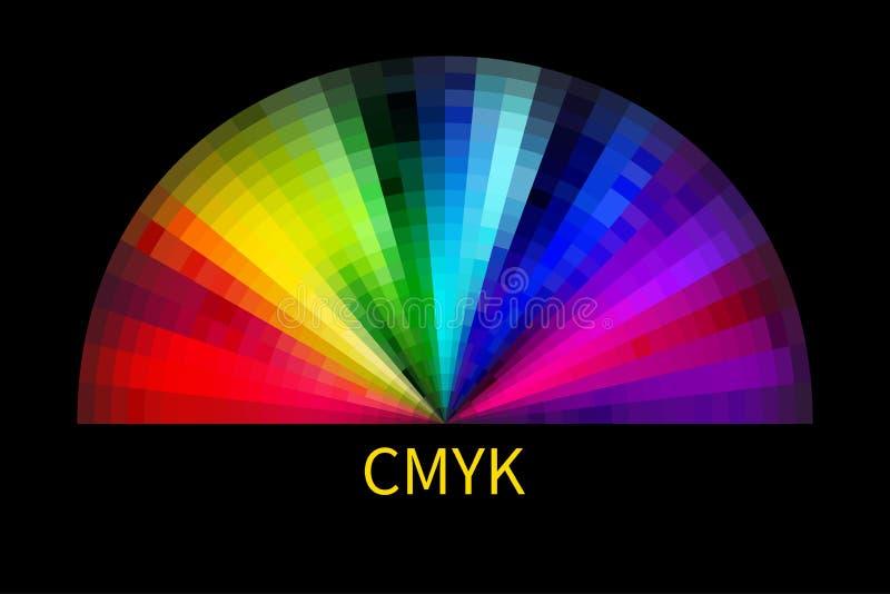 在调色板白色的cmyk对象 库存例证
