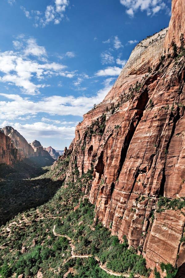 在谷的山风景在对Angel's兰迪的足迹 免版税图库摄影