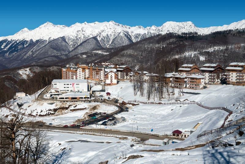 Download 在谷罗莎Khutor的滑雪胜地 2014 2018场杯子比赛奥林匹克俄国索契冬天世界 编辑类图片 - 图片 包括有 安排, 体育运动: 72356265