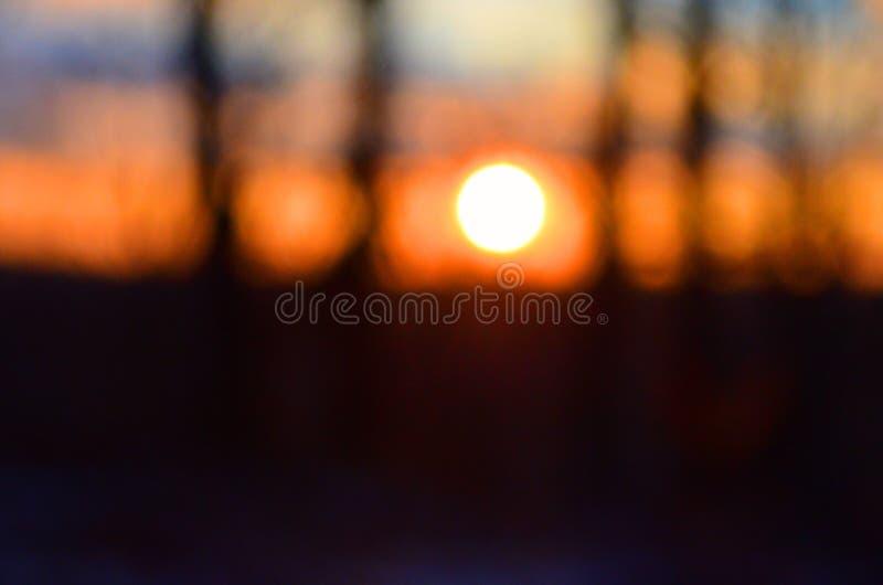 在象想象美好的日落的状态的焦点梦想外面 库存图片