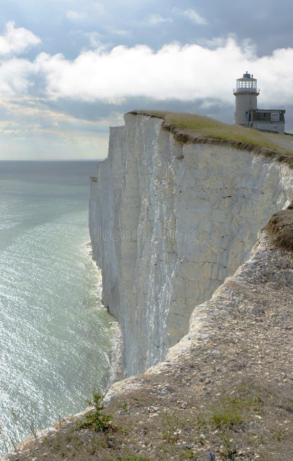 在象海滨头的灯塔 英国 免版税图库摄影