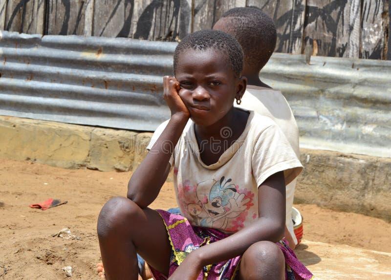 在象牙海岸MUTINERIE的虐待儿童 免版税图库摄影