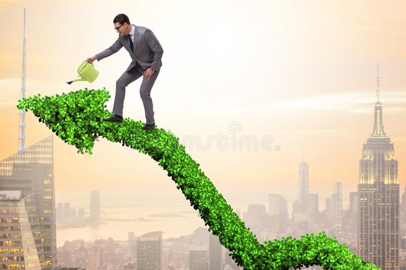 在负责任的生态事务的商人 免版税库存图片