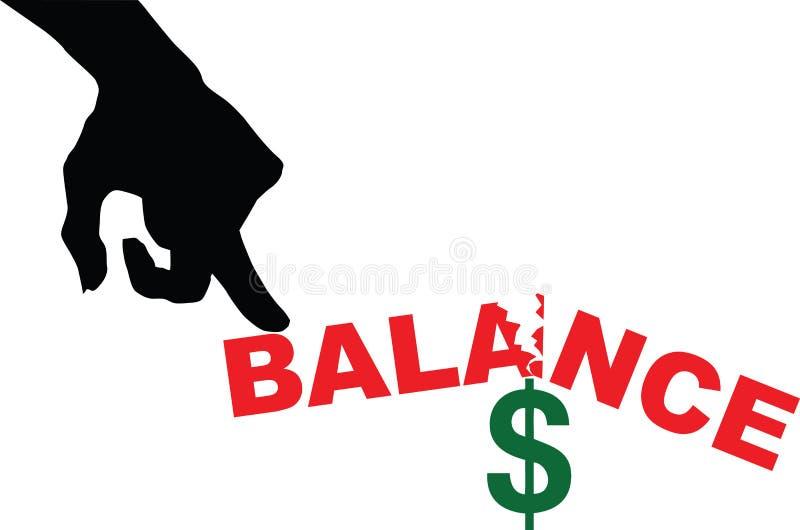 在财务的不平衡状态 皇族释放例证