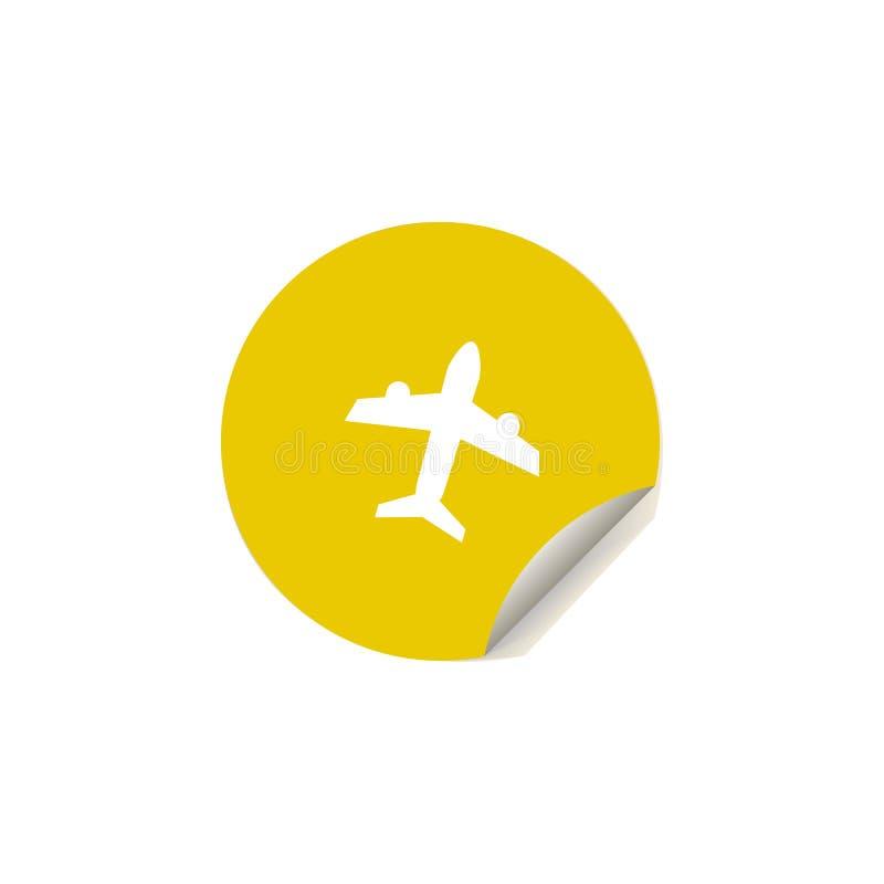 在贴纸样式的航空器象 一夏天乐趣汇集象可以为UI, UX使用 向量例证