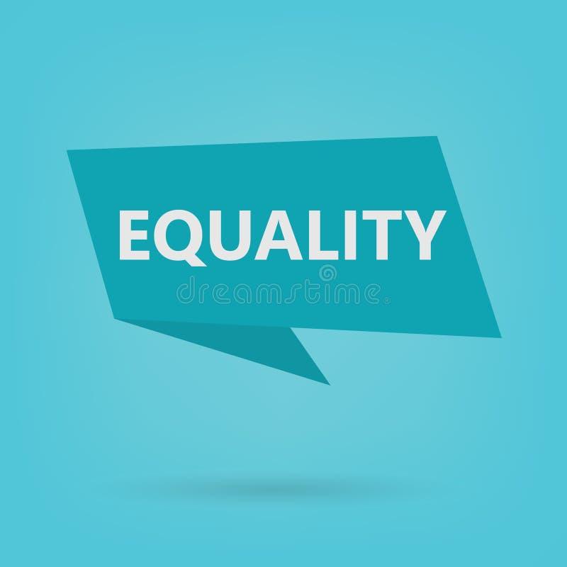 在贴纸的平等词 向量例证
