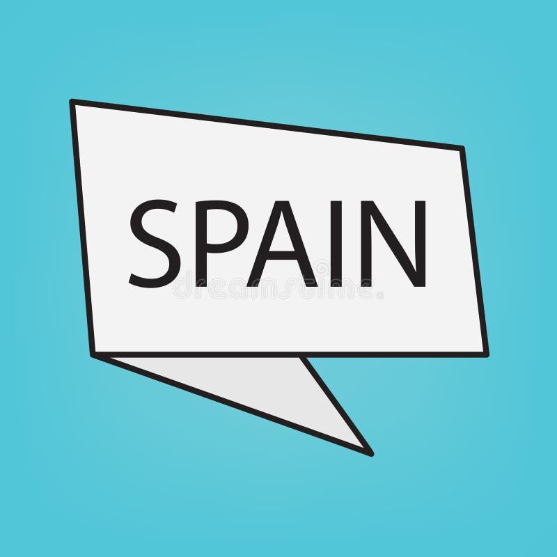 在贴纸的西班牙词 皇族释放例证