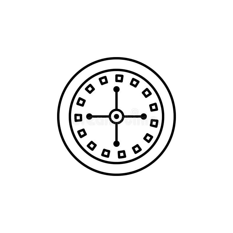 在赌博娱乐场象的轮盘赌 赌博娱乐场的元素流动概念和网apps的 网站设计和发展的稀薄的线象 皇族释放例证