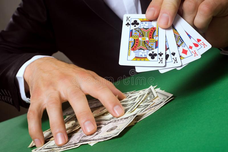 在赌博的爆发 免版税库存照片