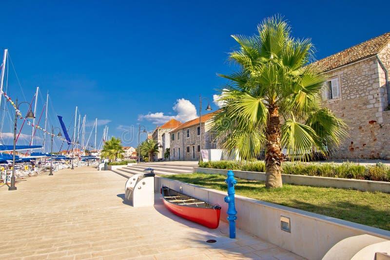 在赫瓦尔岛海岛上的Stari毕业 库存照片