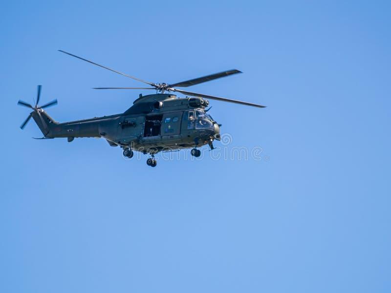 在赫顿的英国皇家空军直升机 库存照片