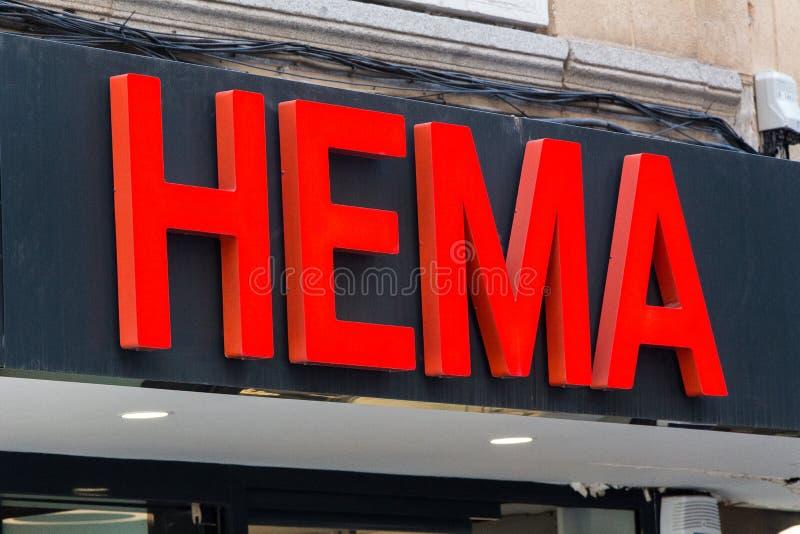 在赫马商店的赫马商标 免版税库存图片