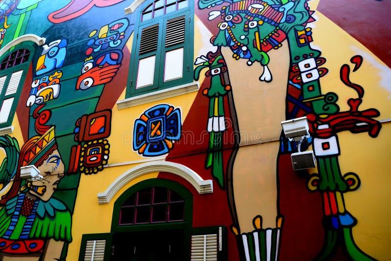 街道画, 时髦, 独立, 运输路线, 壁画, 邻里, 油漆, 新加坡, 浪花
