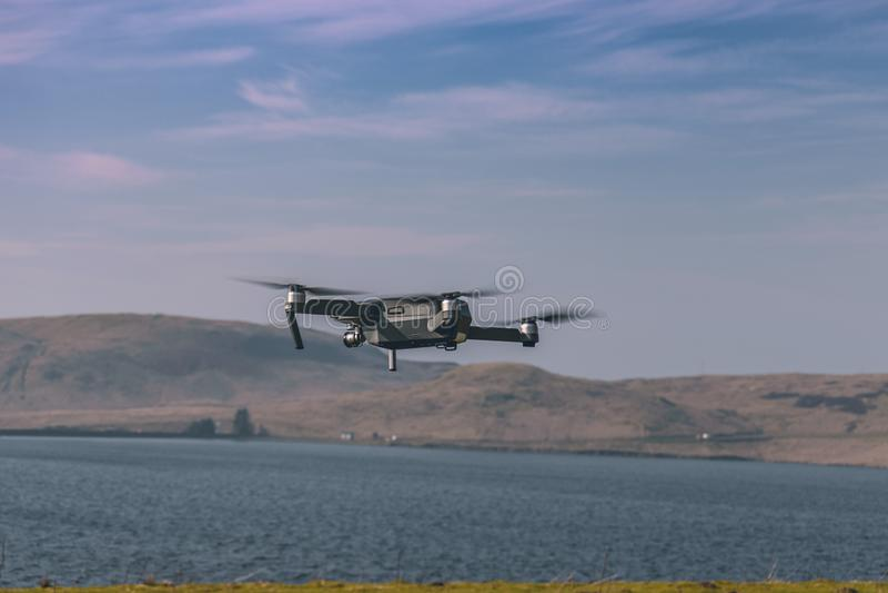 在起飞以后的寄生虫飞行 免版税库存照片