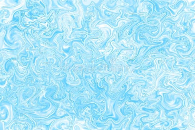 在超现实的样式,大理石纹理的蓝色和白色抽象背景 图形设计艺术样式,与混乱线的迷离背景 向量例证