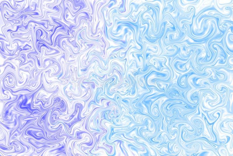 在超现实的样式,大理石纹理的蓝色,紫罗兰色和白色抽象背景 图形设计艺术样式,迷离背景与 皇族释放例证