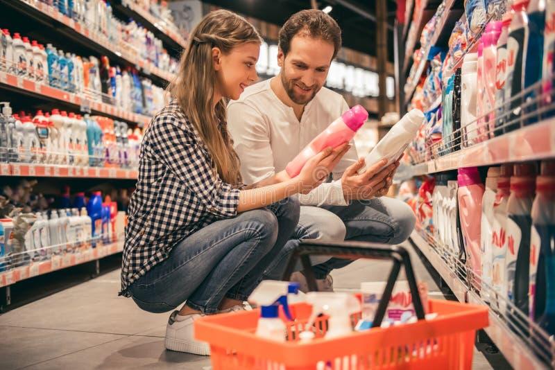 在超级市场的系列 库存照片