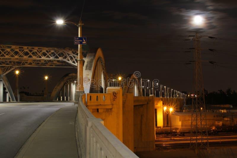 在超级的1桥梁月亮 图库摄影