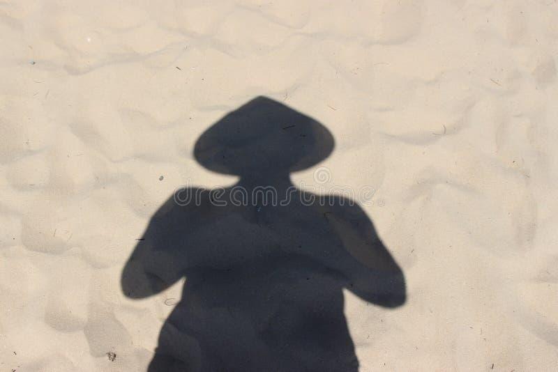 在越南帽子的阴影 免版税库存图片