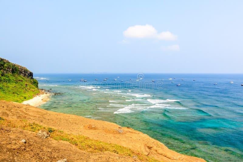 在越南的海滩 免版税库存照片