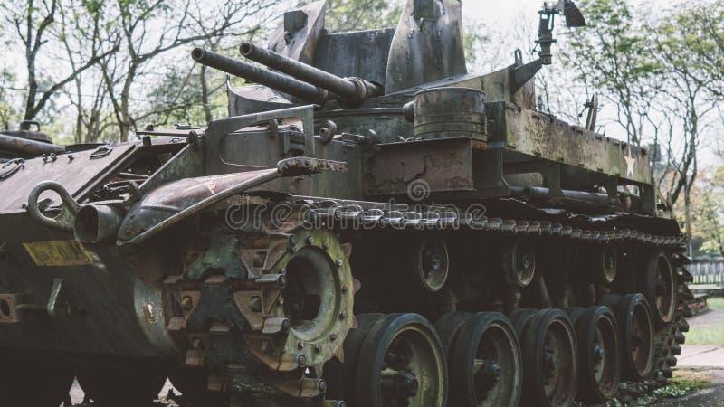 在越战以后的NTrophy美国人被毁坏的技术 越南战争全国军事博物馆  库存图片