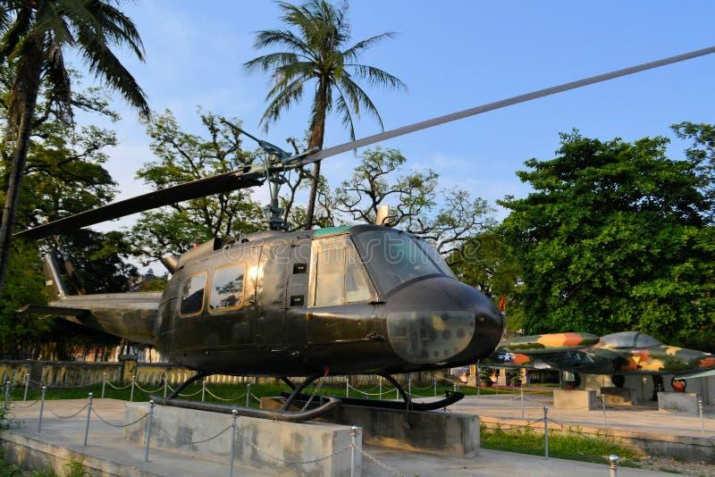 在越战期间使用的美军直升机 免版税库存图片