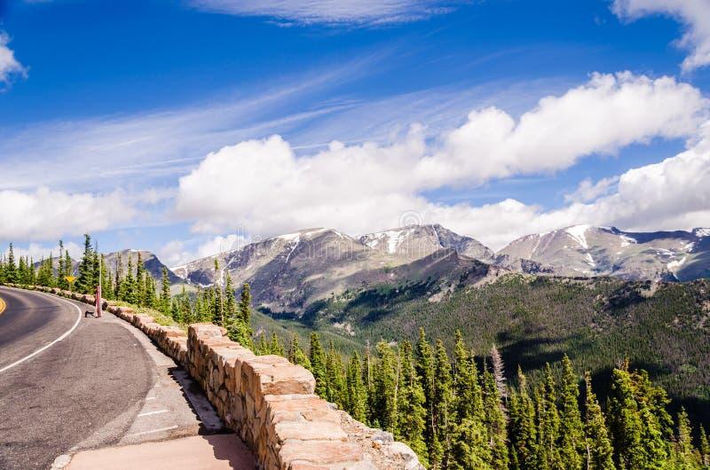 在足迹土坎路的风景看法,科罗拉多 免版税图库摄影