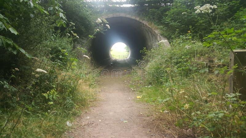 在路下的隧道 免版税图库摄影