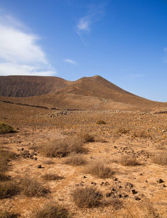 在路径之外的bayuyo corralejo火山 免版税库存照片