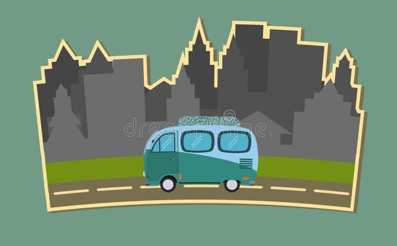 在路的无盖货车乘驾 图库摄影
