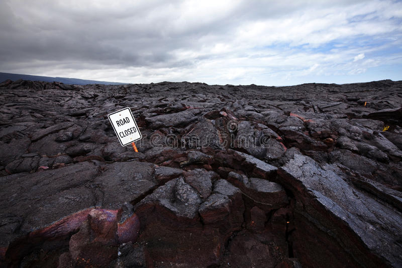 在路的熔岩 免版税图库摄影