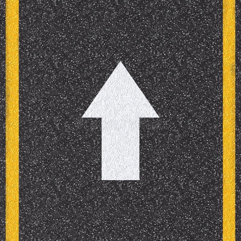 在路的箭头标志 皇族释放例证