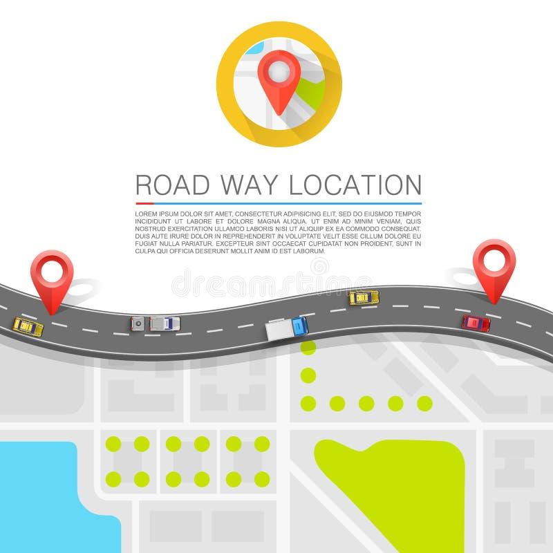 在路的被铺的道路 向量背景 向量例证