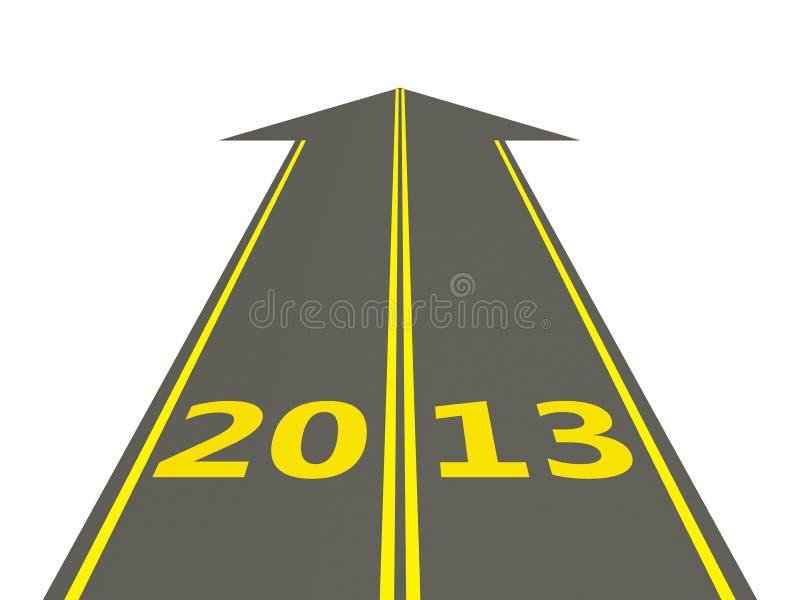 在路的2013新年度 皇族释放例证