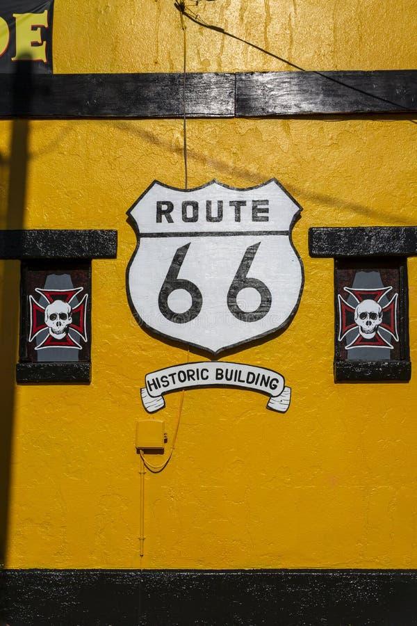 在路线66,金曼,亚利桑那,美国,北美洲的壁画 免版税库存照片
