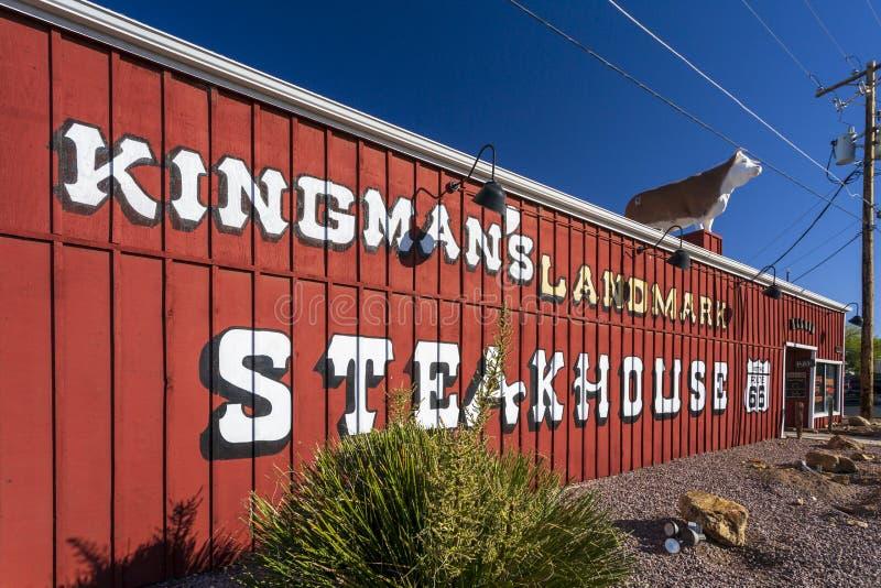 在路线66,金曼,亚利桑那,美国,北美洲的壁画 库存照片