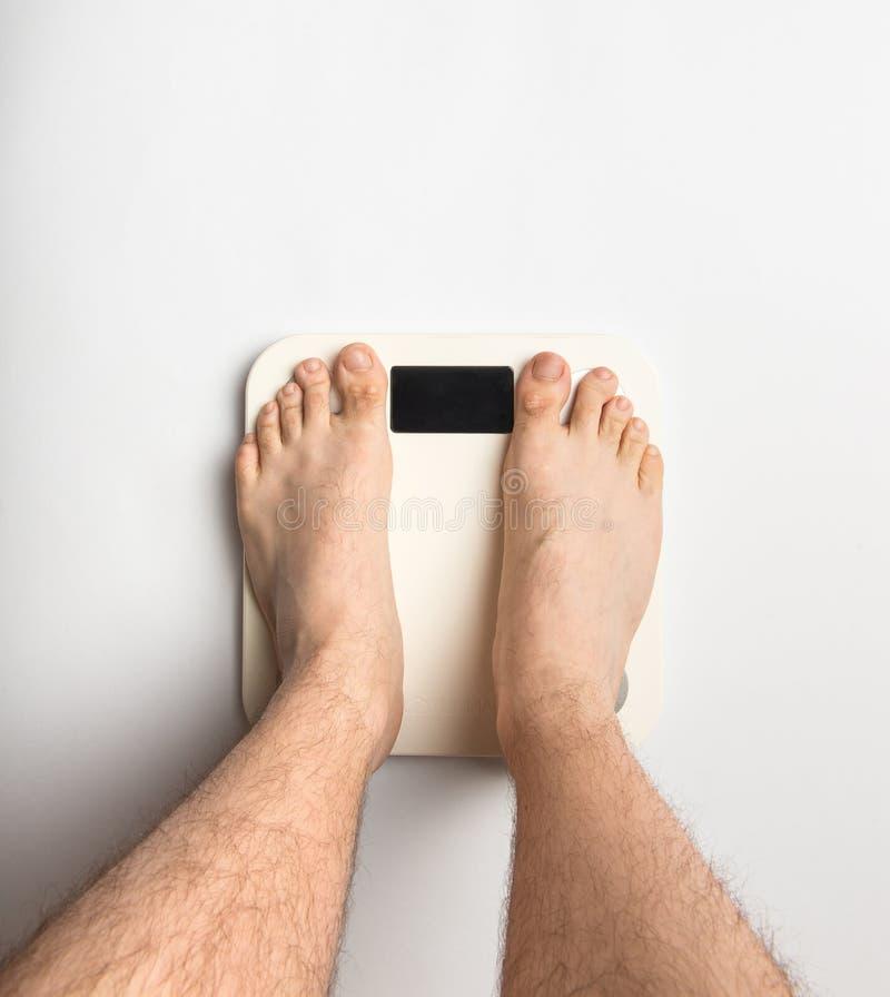 在身体等级的人脚 免版税库存照片