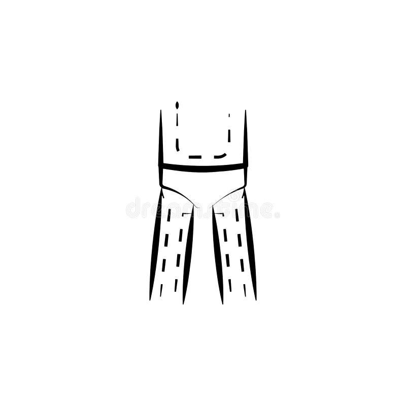 在身体象的医生的标记 防皱象的元素流动概念和网apps的 稀薄的在人体的线医生的标记 皇族释放例证