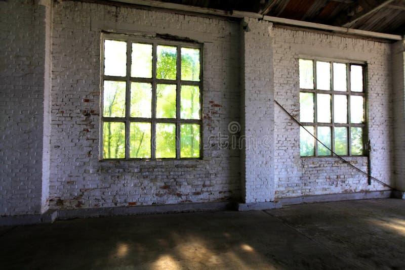 在车库的Windows 库存照片