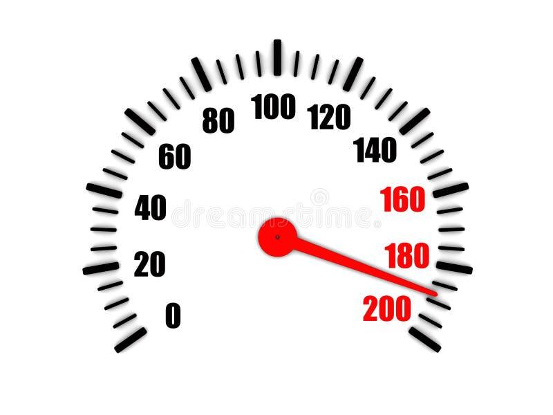 在车速表的高速 向量例证